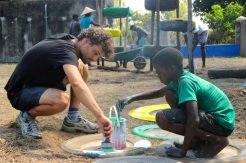 Painting the playground with the future of Nhangau
